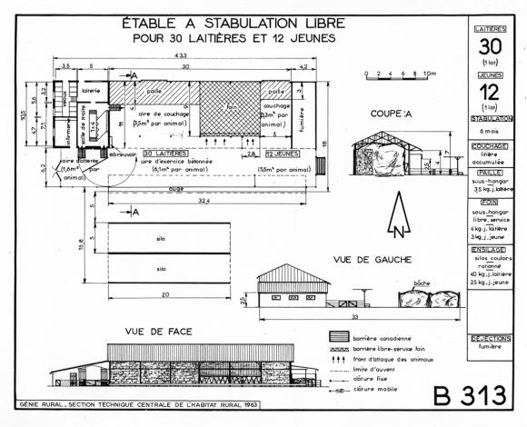 plan hangar agricole bois